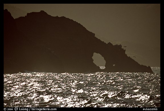 Sea arch, Santa Cruz Island. Channel Islands National Park (color)