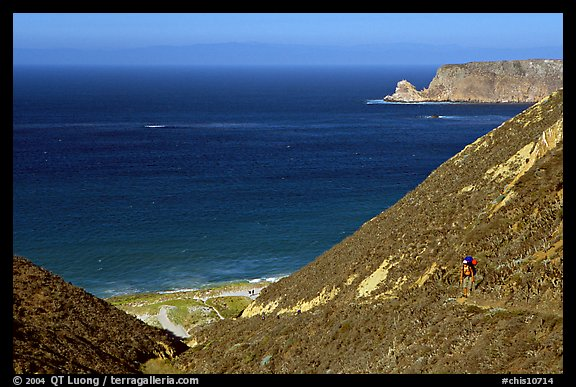 Nidever canyon overlooking Cyler harbor, San Miguel Island. Channel Islands National Park (color)