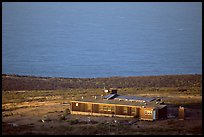 Ranger station, San Miguel Island. Channel Islands National Park, California, USA. (color)