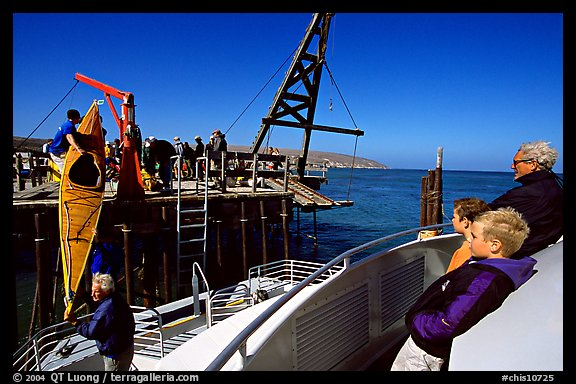 Loading  Island Packers boat, Santa Rosa Island. Channel Islands National Park (color)