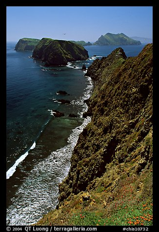 Cliffs near Inspiration Point, East Anacapa Island. Channel Islands National Park (color)