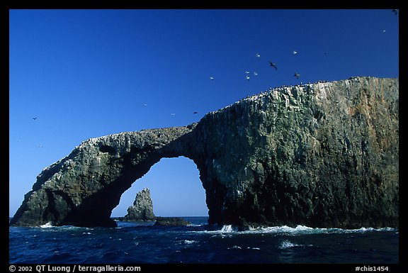 Arch Rock, East Anacapa. Channel Islands National Park (color)