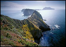 Chain of islands, afternoon, Anacapa Island. Channel Islands National Park ( color)