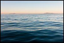 Ocean, Annacapa and Santa Cruz Islands at sunrise. Channel Islands National Park, California, USA. (color)