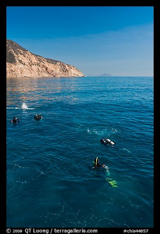 Scuba diving near Santa Cruz Island. Channel Islands National Park (color)