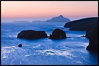 Scorpion Rocks and Anacapa Islands at dawn, Santa Cruz Island. Channel Islands National Park ( color)
