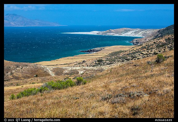 View over Skunk Point from marine terrace, Santa Rosa Island. Channel Islands National Park (color)