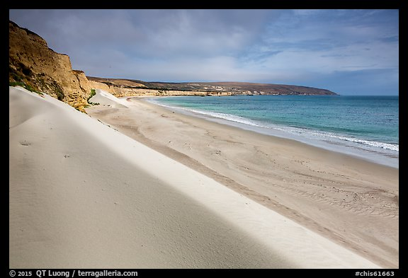 White sand dunes, Water Canyon Beach, Santa Rosa Island. Channel Islands National Park (color)