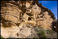 Sculptured cliffs, Lobo Canyon, Santa Rosa Island. Channel Islands National Park ( color)