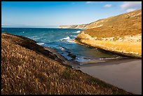 Beach at the mouth of Lobo Canyon, Santa Rosa Island. Channel Islands National Park ( color)