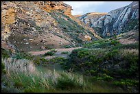 Lobo Canyon at sunset , Santa Rosa Island. Channel Islands National Park ( color)