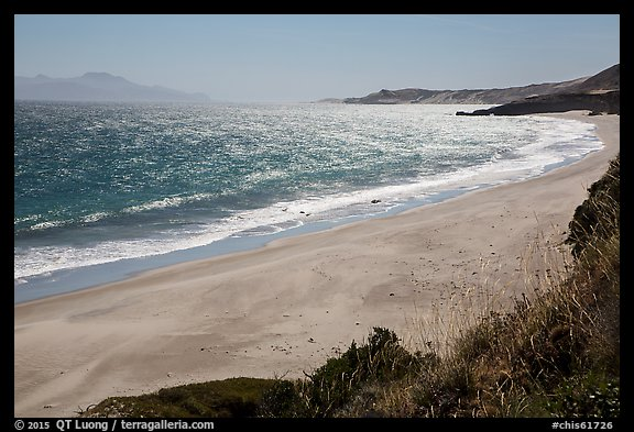 Water Canyon Beach, Santa Cruz Island, and Skunk Point, Santa Rosa Island. Channel Islands National Park (color)