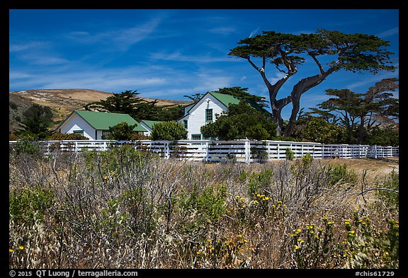 Vail and Vickers Ranch house, Santa Rosa Island. Channel Islands National Park (color)