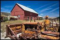 Agricultural machines and barns, Santa Rosa Island. Channel Islands National Park ( color)