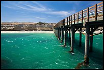 Pier, Bechers Bay, Santa Rosa Island. Channel Islands National Park ( color)
