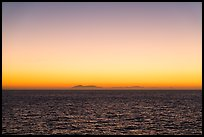 Sunrise over Catalina Island from Santa Barbara Island. Channel Islands National Park ( color)
