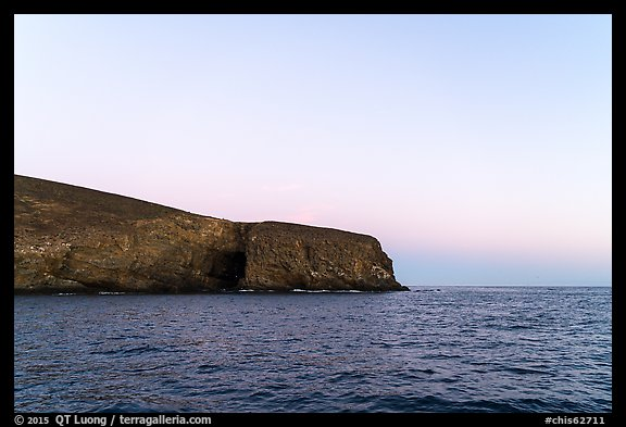 Arch Point at dawn, Santa Barbara Island. Channel Islands National Park (color)