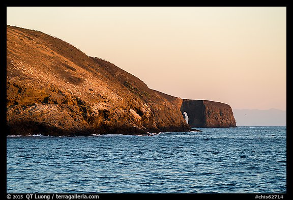 Arch Point at sunrise, Santa Barbara Island. Channel Islands National Park, California, USA.