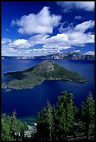 Lake and Wizard Island, afternoon. Crater Lake National Park ( color)