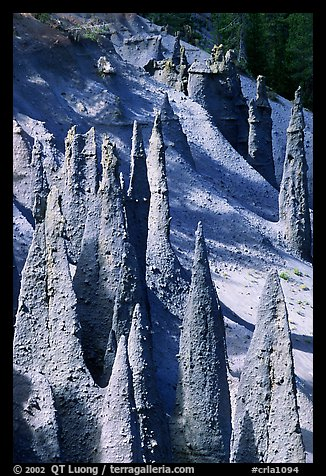 Ancient fossilized vents. Crater Lake National Park (color)