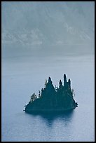 Phantom ship and cliffs. Crater Lake National Park, Oregon, USA. (color)
