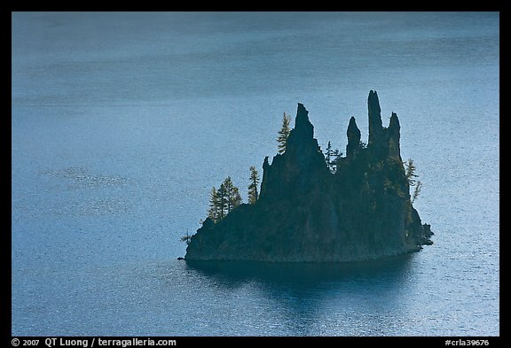 Phantom Ship. Crater Lake National Park (color)