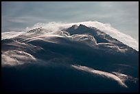 Cloudcap over backlit Mt Scott summit. Crater Lake National Park ( color)
