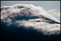 Clouds formed by high winds over Mt Scott. Crater Lake National Park, Oregon, USA. (color)