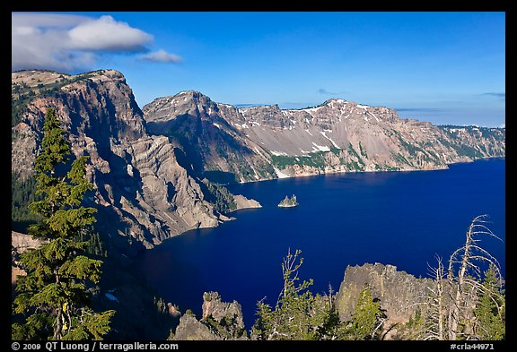 East rim view. Crater Lake National Park (color)