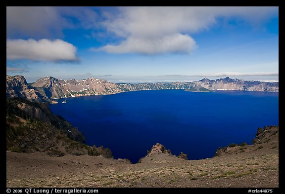 Lake view from Cloudcap overlook. Crater Lake National Park (color)