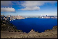 Lake view from Cloudcap overlook. Crater Lake National Park, Oregon, USA. (color)