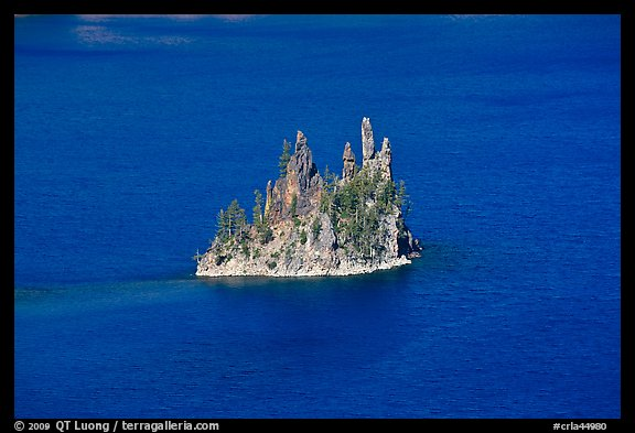 Phantom ship and blue waters. Crater Lake National Park (color)