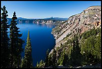 Cloudcap Bay and Pumice Castle. Crater Lake National Park ( color)