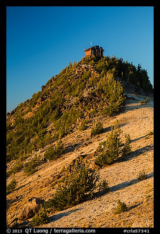 Mount Scott summit and fire lookout. Crater Lake National Park (color)