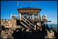 Fire lookout, the Watchman. Crater Lake National Park ( color)