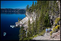 Cleetwood Cove trail and deck. Crater Lake National Park, Oregon, USA.
