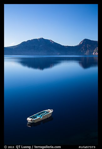 Tour boat, Cleetwood Cove. Crater Lake National Park (color)