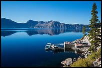 Boat dock, Cleetwood Cove. Crater Lake National Park ( color)