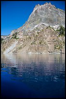 Llao Rock and reflection. Crater Lake National Park ( color)