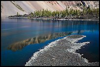 Lava rocks and reflections in Fumarole Bay, Wizard Island. Crater Lake National Park ( color)