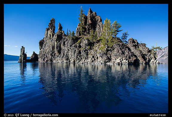 Phantom Ship and reflection. Crater Lake National Park (color)