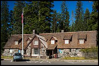 Main crater lake visitor Center. Crater Lake National Park ( color)