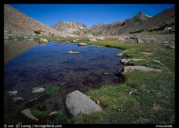 Pond at Sawmill Pass, morning. Kings Canyon  National Park (color)