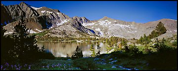 Lake and high peaks. Kings Canyon National Park (Panoramic color)