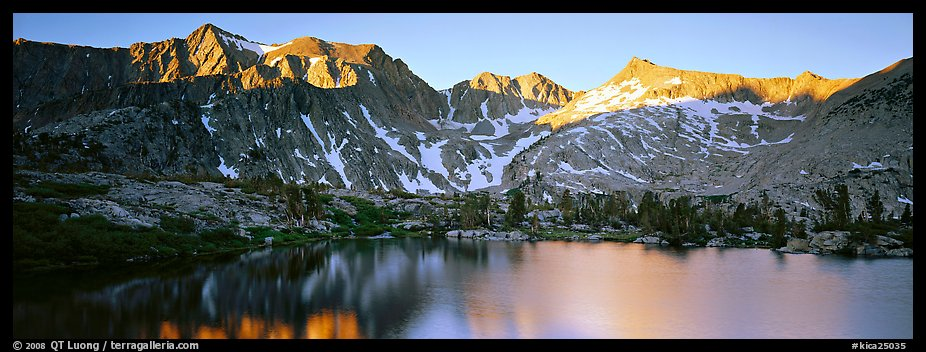 Last last over peaks and reflections. Kings Canyon National Park (color)