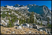 Mt Giraud chain, Lower Dusy basin. Kings Canyon National Park ( color)