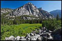 Zumwalt Meadow and North Dome in spring. Kings Canyon National Park ( color)