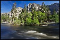 Kings River and trees in the spring, Cedar Grove. Kings Canyon National Park ( color)