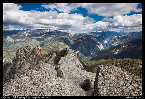 View from  top of Lookout Peak. Kings Canyon National Park (color)