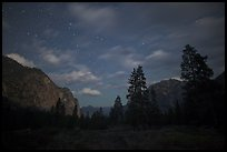 Cedar Grove valley at night. Kings Canyon National Park ( color)
